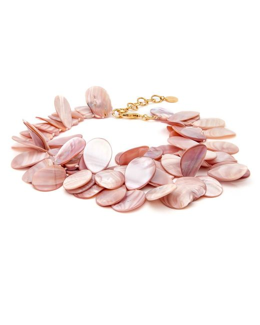 Nest - Pink Mother Of Pearl Cluster Necklace - Lyst