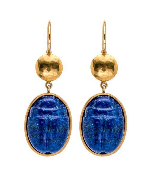 Darlene De Sedle | Blue Lapis Scarab Earrings | Lyst