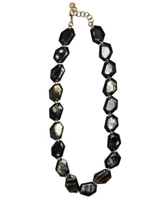 Nest | Faceted Black Horn Station Necklace | Lyst