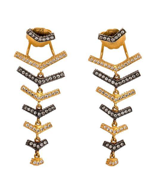 Yossi Harari | Metallic Lilah Stick Fishbone Earrings | Lyst