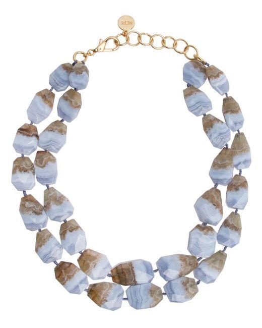 Nest - Blue Lace Agate Double Strand Necklace - Lyst