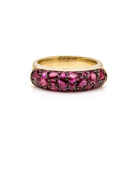 Sylva & Cie - Red Ruby Saddle Ring - Lyst