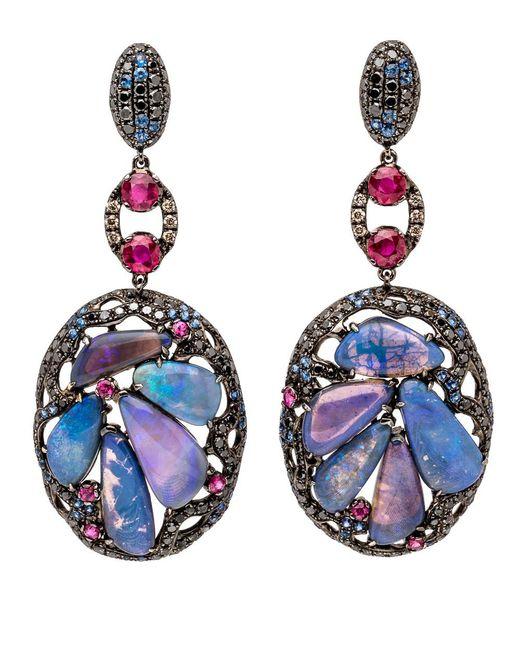 Wendy Yue - Blue Opal Cluster Earrings - Lyst