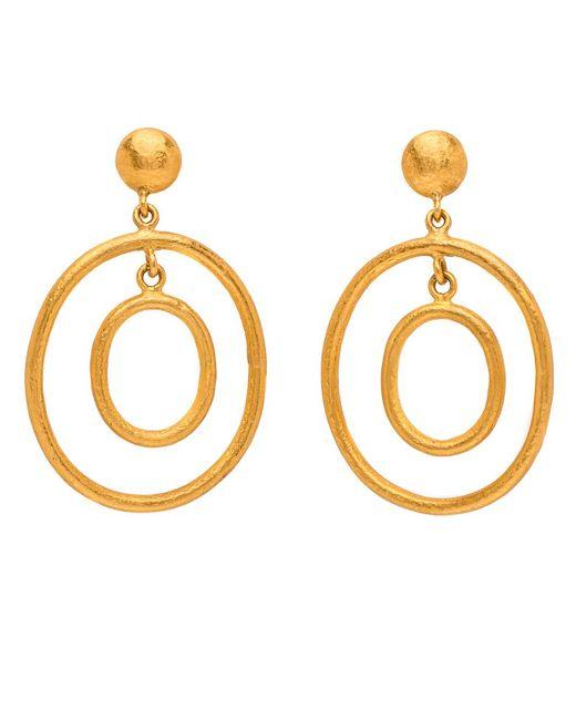 Yossi Harari | Metallic Rachel Double Small Earrings | Lyst