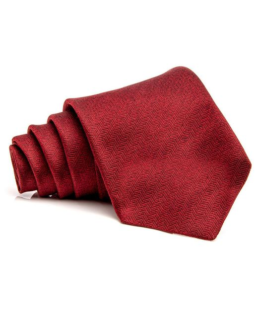 Kiton | Dark Red Herringbone Tie for Men | Lyst
