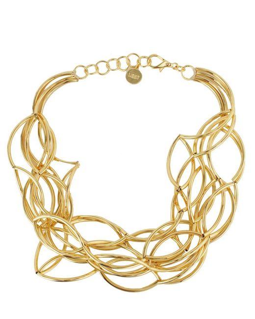 Nest - Metallic Gold Twist Collar Necklace - Lyst