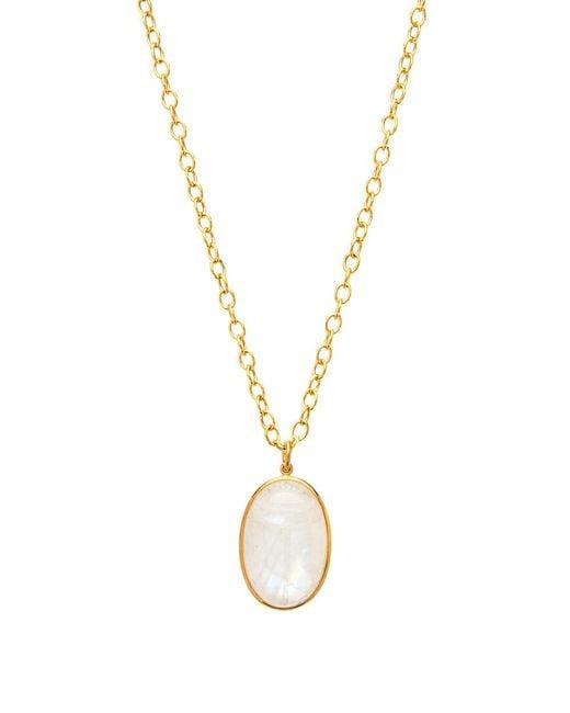 Darlene De Sedle - Metallic Moonstone Scarab Pendant Necklace - Lyst