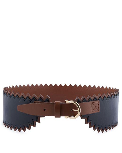 Ferragamo | Brown Leather High Belt | Lyst