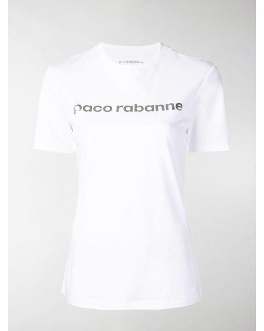Paco Rabanne - White Logo Print T-shirt - Lyst ... 0d939c771