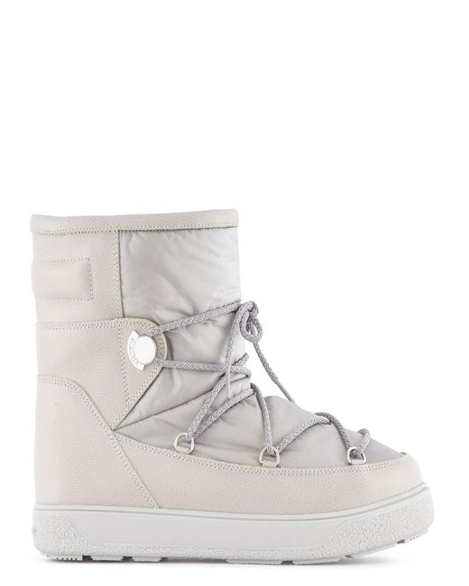 Moncler   Natural Leather And Nylon Boots   Lyst