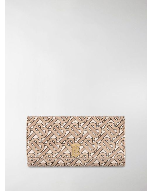 Burberry Multicolor Monogram Print Leather Continental Wallet