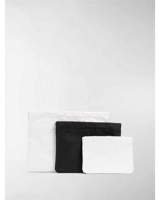 Maison Margiela - White Three-piece Contrast Pouch for Men - Lyst