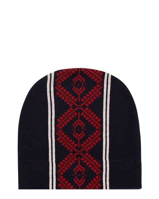 Dries Van Noten | Blue Taldon Patterned Merino Wool Beanie for Men | Lyst