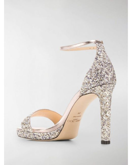 b2c0705c5c5 ... Jimmy Choo - Metallic Misty 100 Sandals - Lyst ...