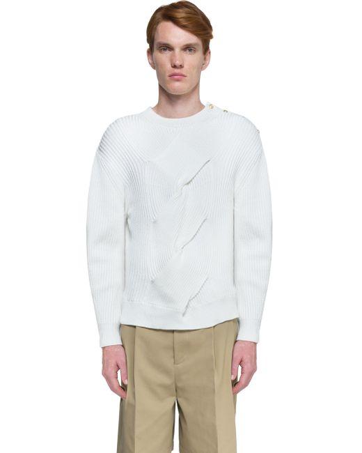 Plain White Jumper Mens 41