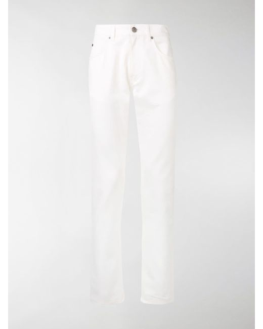 Ferragamo - White Slim-fit Jeans for Men - Lyst