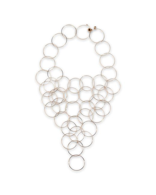 Stella McCartney | Yellow Rose Gold Brass Necklace | Lyst