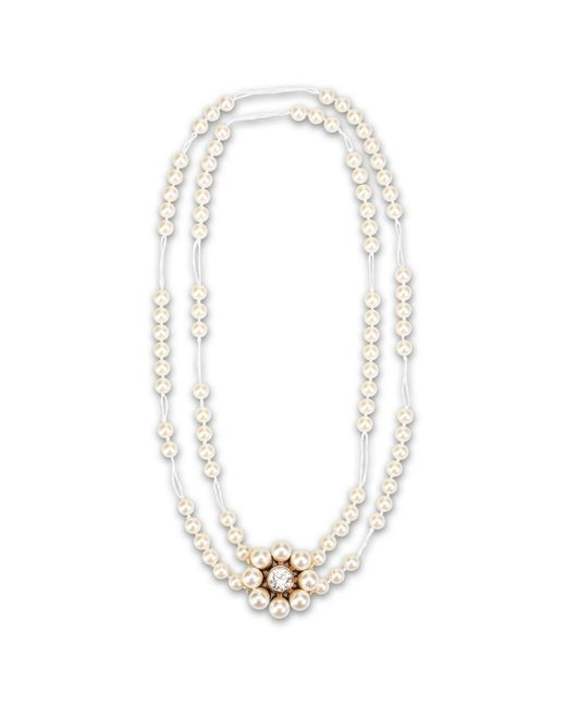 Stella McCartney | Natural Cream Rose Pearl Necklace | Lyst