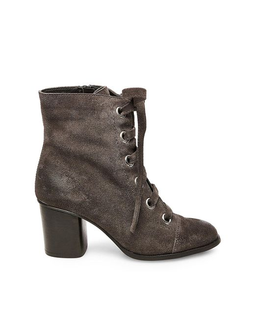 steve madden aces studded ankle boots in gray save 24