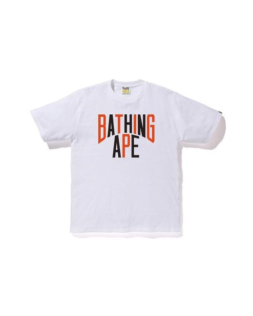 47ecc79c A Bathing Ape Colors Nyc Logo Tee White in White for Men - Lyst