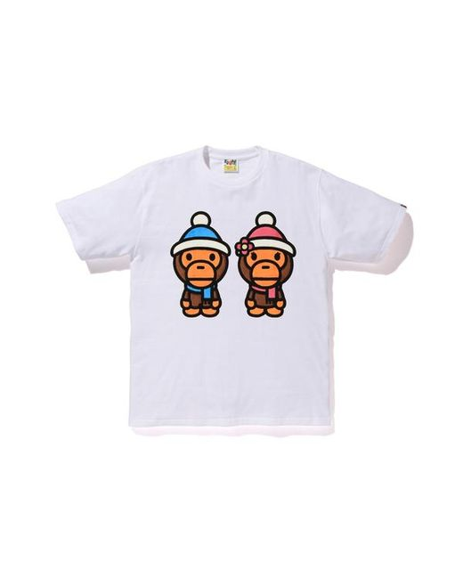 cff1a3d1 Lyst - A Bathing Ape Boa Milo And Lisa Winter Tee White in White for Men