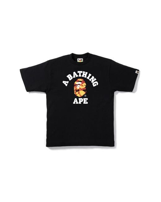 605264fa5d68 Lyst - A Bathing Ape 1st Camo College Tee Black red in Black for Men