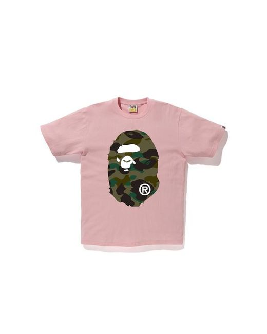4d46aebc Lyst - A Bathing Ape 1st Camo Ape Head Tee Pink in Pink for Men