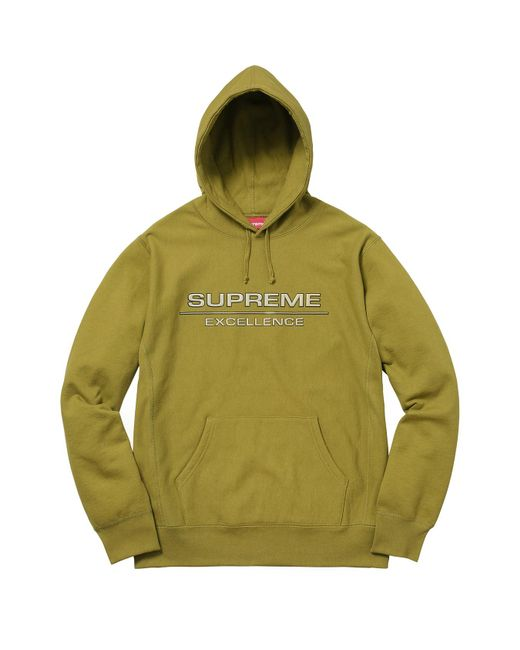 9f945a7df410 Supreme - Reflective Excellence Hooded Sweatshirt Moss Green for Men - Lyst