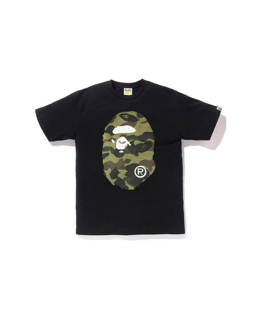 d962c6bd A Bathing Ape Boa 1st Camo Big Ape Head Tee Black/green in Black for ...
