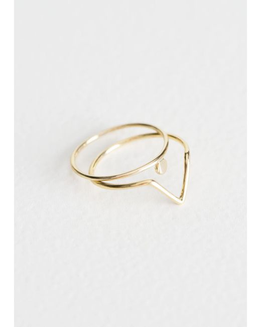 & Other Stories - Metallic Stackable Frame Rings - Lyst