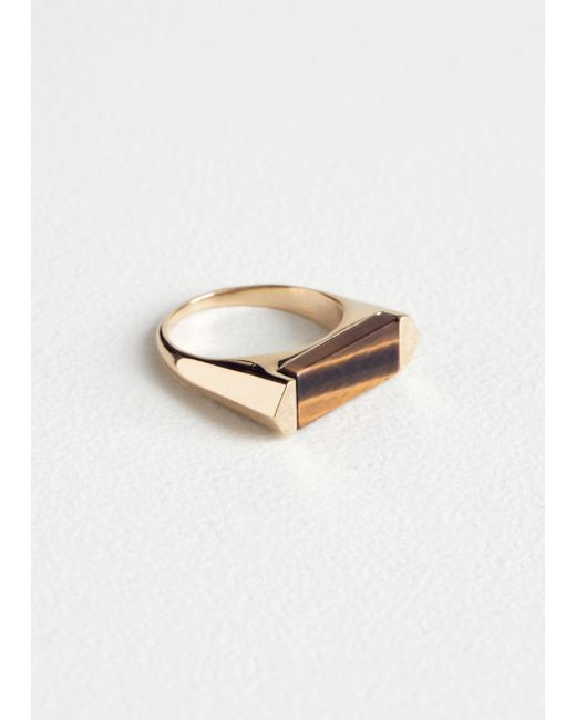 & Other Stories - Yellow Tigers Eye Ring - Lyst