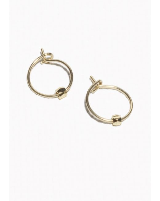 & Other Stories | Metallic Faceted Bead Hoop Earrings | Lyst