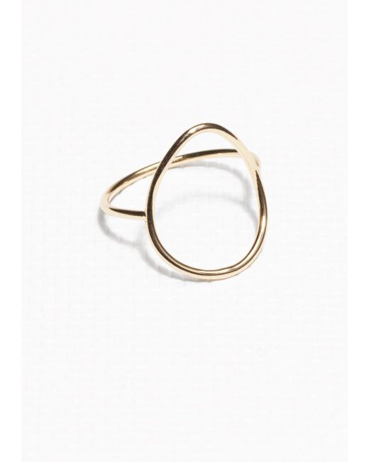 & Other Stories | Metallic Thin Droplet Ring | Lyst