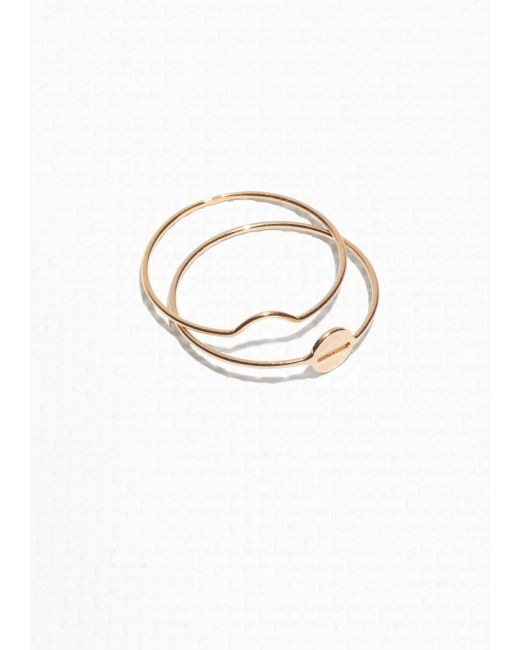 & Other Stories | Metallic Plate Duo Ring | Lyst