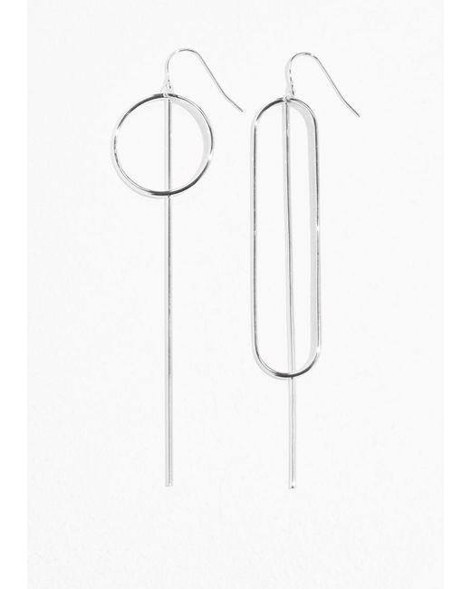& Other Stories | Metallic Metal Bar Earrings | Lyst