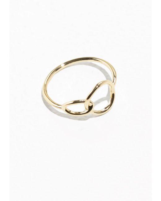 & Other Stories | Metallic Circle Ring | Lyst