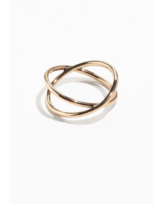 & Other Stories | Metallic Crossover Ring | Lyst