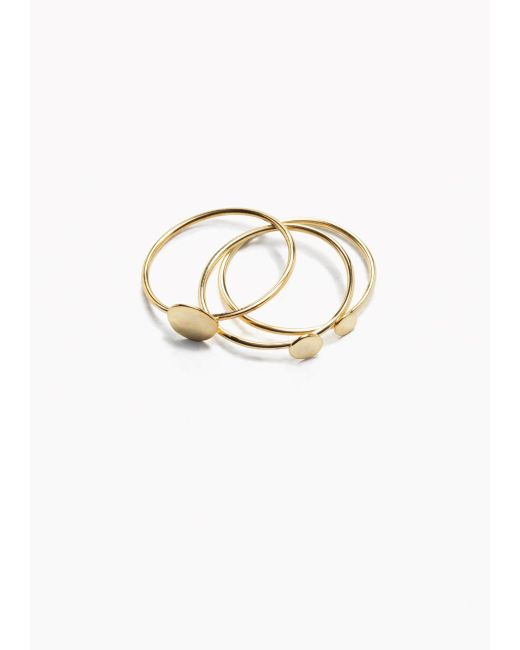& Other Stories | Metallic Charm Multi Rings | Lyst