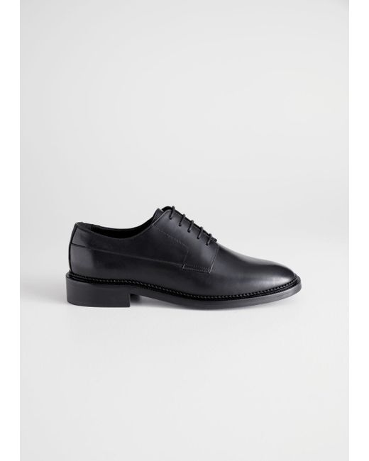 7f7f9de2c35 Lyst -   Other Stories Leather Oxfords in Black