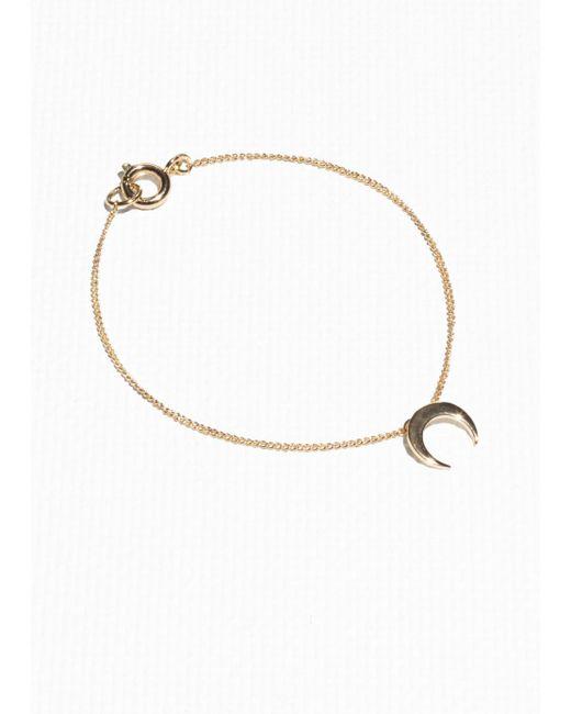 & Other Stories - Metallic Crescent Moon Bracelet - Lyst