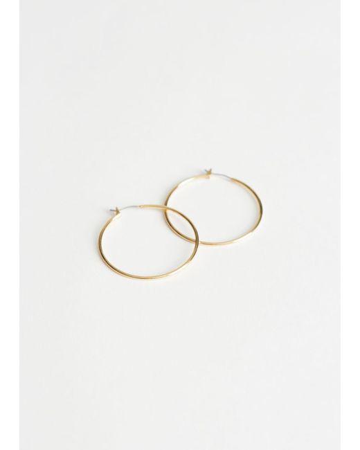 & Other Stories - Metallic P Hanford Hoop Earrings 40mm - Lyst
