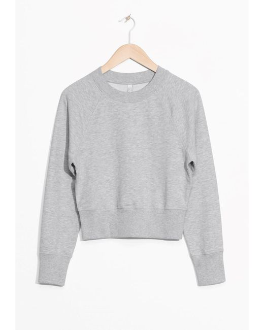 & Other Stories   Gray Raglan Sleeve Sweater   Lyst