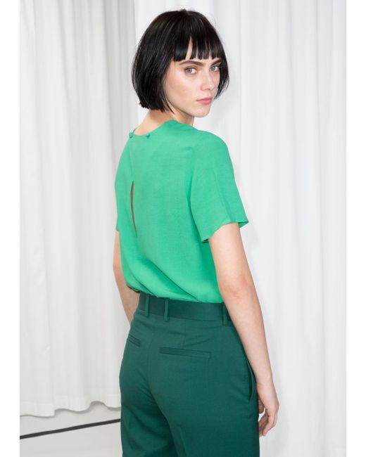 & Other Stories - Green Loose Top - Lyst