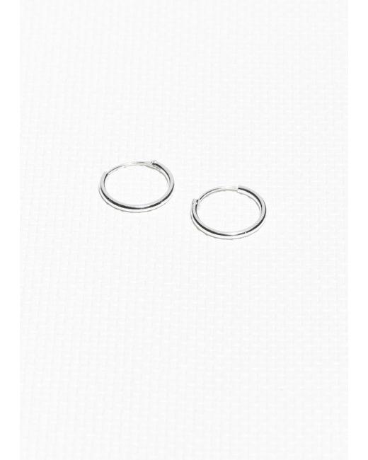 & Other Stories - Metallic Tiny Hoop Earrings - Lyst
