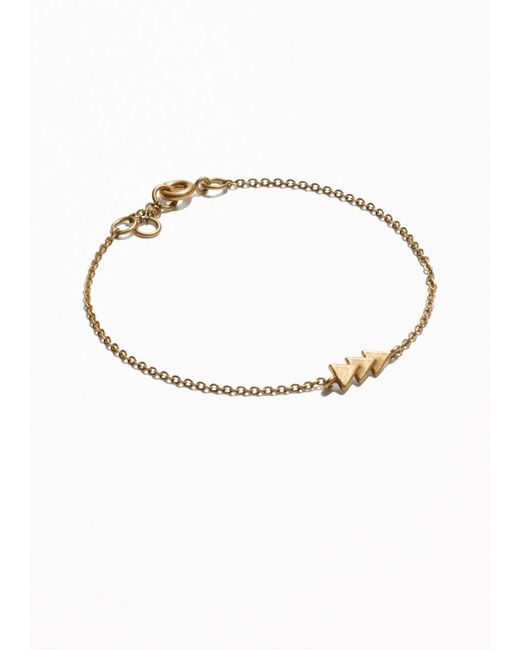 & Other Stories | Metallic Triangle Bracelet | Lyst