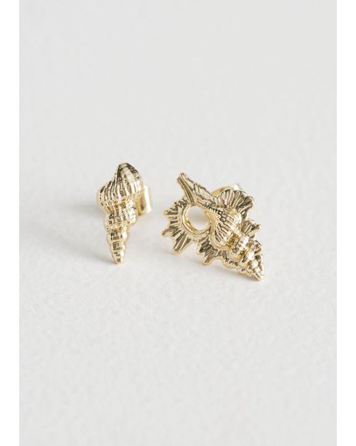& Other Stories - Metallic Seashell Earrings - Lyst
