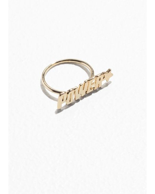 & Other Stories - Metallic Power Charm Ring - Lyst