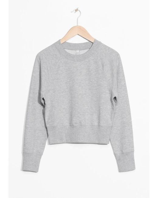 & Other Stories - Gray Raglan Sleeve Sweater - Lyst