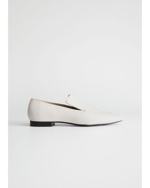 3d7bd879477 Lyst -   Other Stories Pointed Loafers in White