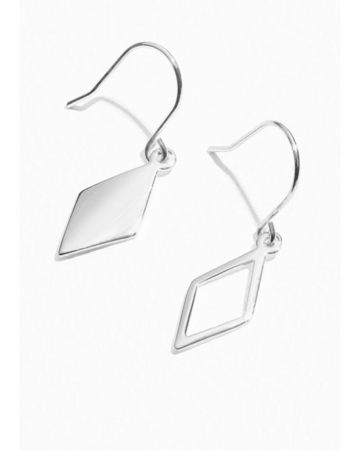 & Other Stories - Metallic Diamond Shape Hooks - Lyst